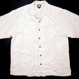 Tommy Bahama Mens L 100% Linen Short Sleeve Shirt